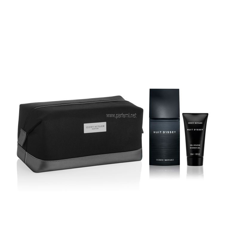 Issey Miyake L'Eau D'Issey Nuit Комплект-75EDT+50SG+pouch